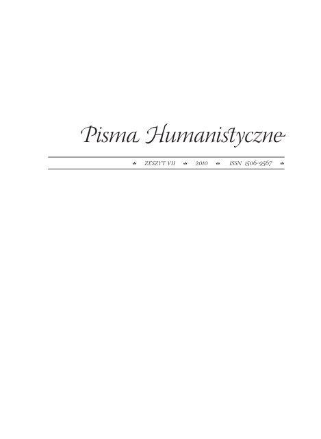 Pisma Humanistyczne