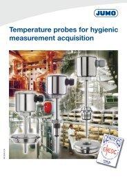Temperature probes for hygienic measurement acquisition