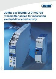 JUMO ecoTRANS Lf 01/02/03 Transmitter series for measuring ...