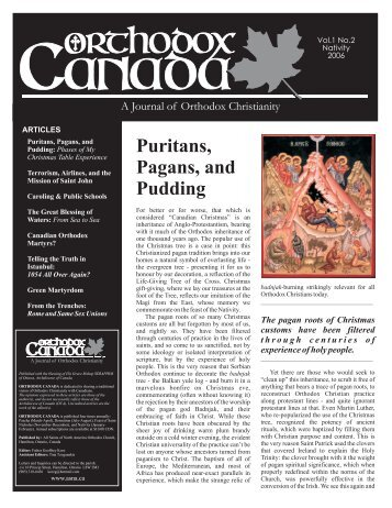 Puritans Pagans and Pudding