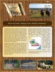 tales from the trails vol 11.qxp - Saskatchewan Trails Association