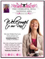 We are thrilled that you have joined our Unbelieva-Bull ... - Darla Bull