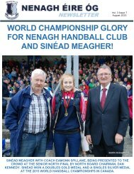WORLD CHAMPIONSHIP GLORY FOR NENAGH HANDBALL CLUB AND SINÉAD MEAGHER!