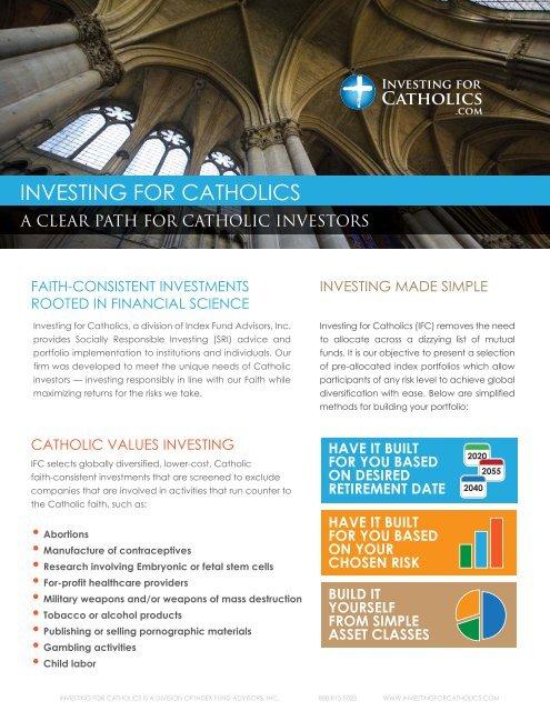 INVESTING FOR CATHOLICS