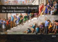 The 12-Step Recovery Program for Active Investors