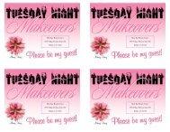 Tuesday Night Makeover Invites - Darla Bull