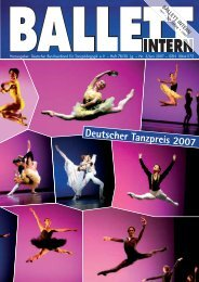 Deutscher Tanzpreis 2007 BALLETTINTERN BALLETT INTERN