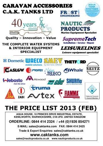 THE PRICE LIST 2013 (FEB)