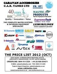 THE PRICE LIST 2012 (OCT)
