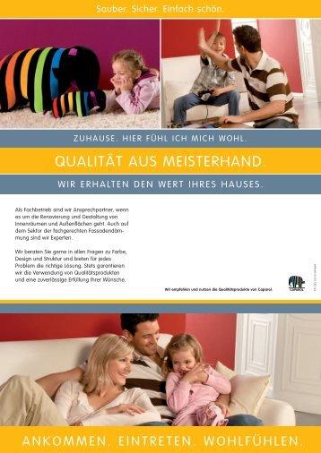 Qualität aus Meisterhand - Innenfarben für ein gesundes Zuhause