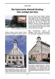 Die historische Altstadt Greding: Hier schlägt das Herz - CSU