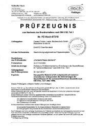 Prüfbericht Brandverhalten B1 schwerentflammbar mit Amphibolin ...