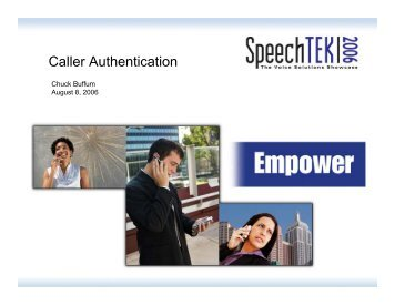 Caller Authentication