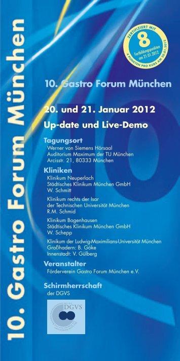 10. Gastro Forum München - COCS | CONGRESS ORGANISATION C. SCHÄFER