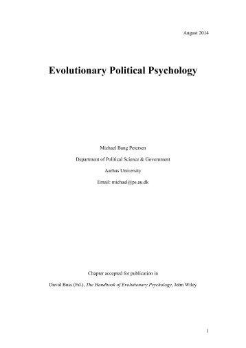 Evolutionary Political Psychology