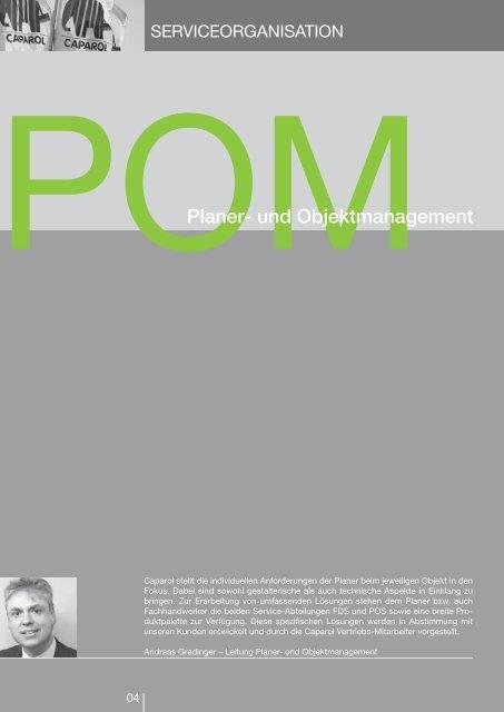 Service-Broschüre Planer- und Objektmanagement
