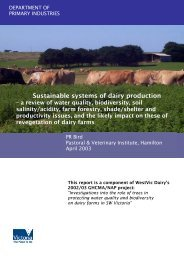 Sustainable systems of dairy production