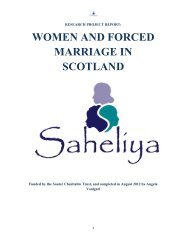 WOMEN AND FORCED MARRIAGE IN SCOTLAND