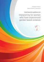 Interpreting for women who have experienced gender based violence