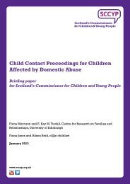 Child Contact Proceedings for Children Affected by Domestic Abuse