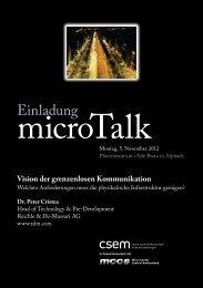 Vision der grenzenlosen Kommunikation - CSEM