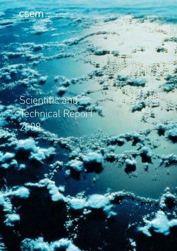 CSEM Scientific and Technical Report 2008