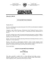 Zakon Br 2004/10 O ELEKTRIČNOJ ENERGIJI ZAKON O ELEKTRIČNOJ ENERGIJI