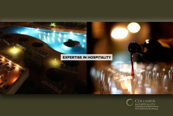 EXPERTISE IN HOSPITALITY