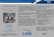 Leichtbau mit CFK - C-Con GmbH