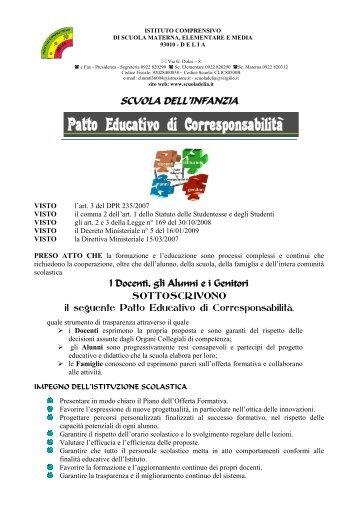 SCUOLA DELL'INFANZIA - Istituto Comprensivo Delia