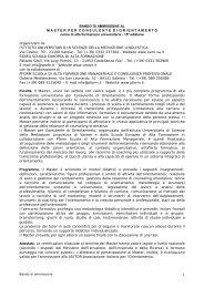 BANDO DI AMMISSIONE AL ... - ordine assistenti sociali campania
