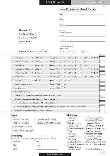Bestellformular/Version Bo