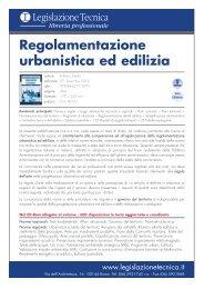 Regolamentazione urbanistica ed edilizia