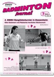 Turnier - Baden - Württembergischer  Badminton - Verband