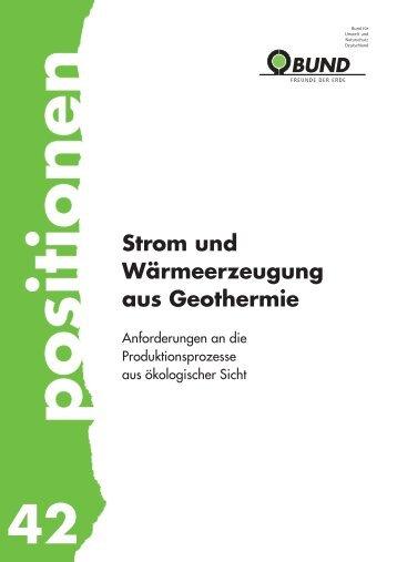 Geothermie - BUND für Umwelt und Naturschutz Deutschland