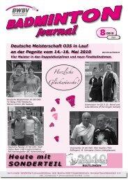 8/2010 - Baden - Württembergischer  Badminton - Verband