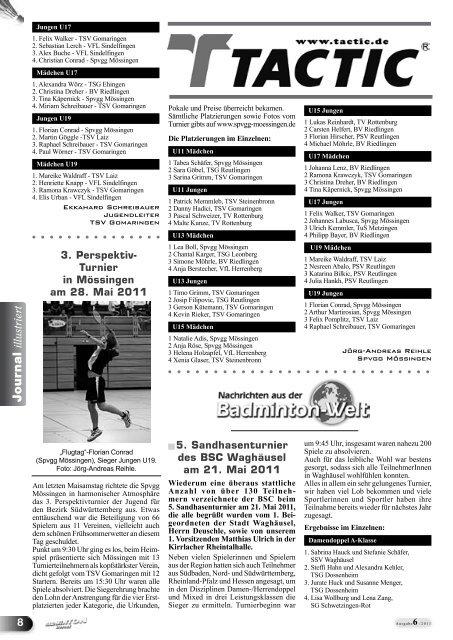 6/2011 - Baden - Württembergischer  Badminton - Verband