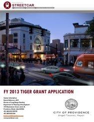 FY 2013 TIGER GRANT APPLICATION