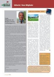 Editorial / Neue Mitglieder - Bundesverband Golfanlagen