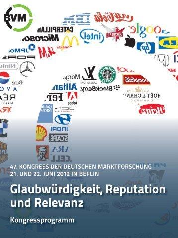 Sponsor auf dem Kongress - Berufsverband Deutscher Markt