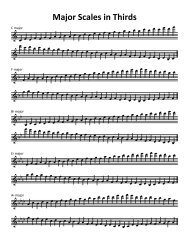 Major Scales in Thirds