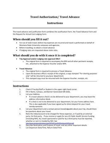 travel authorization and travel advance request sandhills