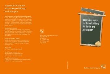 Angebote zur Umweltbildung - BSR