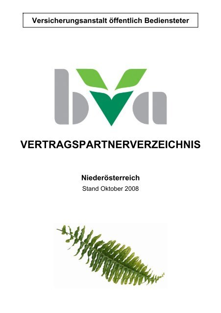 Vertragspartnerverzeichnis Bva