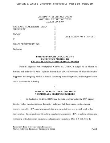 Case 3:13-cv-03813-B Document 6 Filed 09/20/13 Page 1 of 5 ...