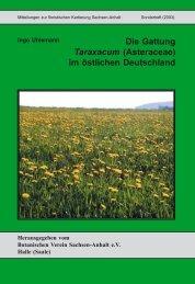 Die Gattung Taraxacum (Asteraceae) im östlichen Deutschland