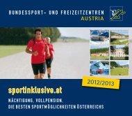 PDF (2,5 MB) - Bundessport- und Freizeitzentren Austria