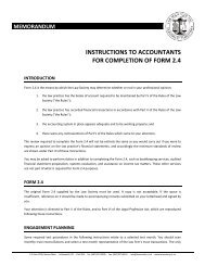 INSTRUCTIONS TO ACCOUNTANTS FOR COMPLETION OF FORM 2.4