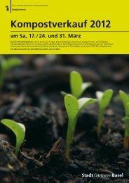 Kompostverkauf 2012 am Sa, 17. / 24. und 31. März - Basel-Stadt