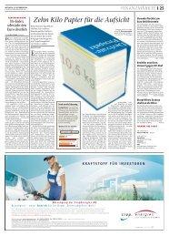 Ten kilograms of paper for the regulator